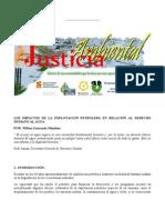 El Agua y El Petroleo Justicia Ambiental