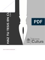 Haz Tu Tesis en Cultura 2009
