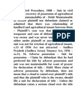 Suit for Possession for Agriculutral Land