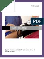 Comprehensive Health Assessment