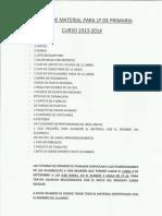Listado Material Primaria Curso 2013-14