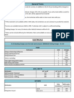Complete Rate Card in English