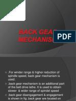 Back Gear Mechanism