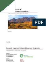 Organ Mountains Desert Peaks - FINAL REPORT on Economic Impacts of  National Monument Designation, Aug 2013