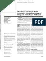 Ultrasound Imaging of Bowel Pathology
