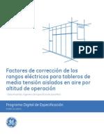Factores de corrección por altitud de operación - GE Industrial Solutions