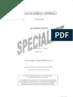 BAC Mathematiques-Specialite 2009 SES