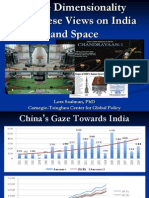 Three Dimensionality In Chinese Views On India And Space