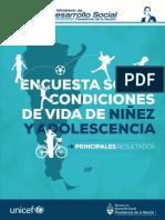 Encuesta Sobre Condiciones de Vida NNyA - Baja