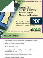 Asug 2001 SAP R3 SAP BW Security Upgrade