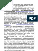 CONVOCATORIA AL CONCURSO DE ACCESO A CARGOS DE DIRECTOR Y SUBDIRECTOR DE INSTITUCIONES EDUCATIVAS PÚBLICAS DE EDUCACIÓN BÁSICA REGULAR