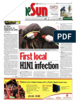 thesun 2009-06-18 page01 first local h1n1 infection