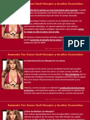 se puede aumentar los senos con masajes