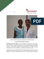 Uganda Girl gets  new a Life at  Wockhardt Hospitals