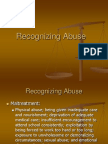 Recognizing Child Abuse Lecture - OT