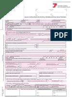 Ejemplo Modelo TA.0521:1 Seguridad Social (alta traductor en régimen autónomos)