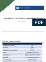 Bank Alfalah 2013 Analyst Briefing