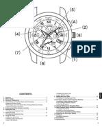DG Citizen Watch Manual Model BL8030-53A