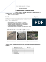 Test Initial Ecologie 2012