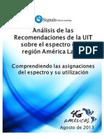 Análisis de las recomendaciones de la UIT sobre el espectro en la región América Latina