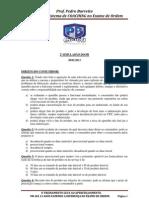 2º SIMULADÃO DO PB - 1ª FASE EXAME DE ORDEM
