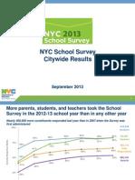 2013 NYC School Survey Citywide Analysis