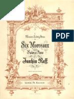 Raff - 6 Morceaux Pour Violin&Piano Op.85