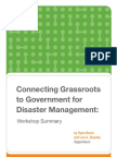 Connecting Grassroots to Government for Disaster Management