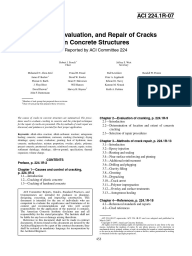 Causes, Evaluation, And Repair of Cracks in Concrete Structures