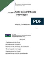 Arquiteturas de Garantia Da Informacao