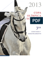 Convocatoria Copa Olímpica de Adiestramiento 2013 y Concurso Nacional # 3