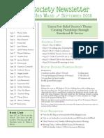 Newsletter Sept. 2013