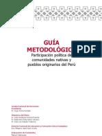 GUIA Metodologica Participación política de comunidades nativas y pueblos originarios del Perú