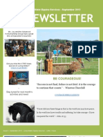 Living Water Equine Services Newsletter - September 2013
