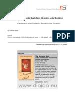 2.3 - Israel, Joachim - De-Alienation Under Capitalism - Alienation Under Socialism (en)