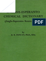 English-Esperanto Chemical Dictionary (Angla-Esperanta Kemia Vortaro)