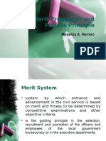 Merit and Promotion-Merit and Fitness Principle