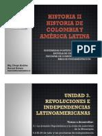 Unidad 3 Revoluciones e Independencias Hispanoamericanas (Avances)
