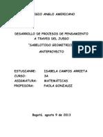 Anteproyecto (Trabajo Escrito de Matematicas) Grado Tercero