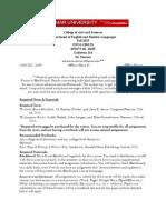 FA2013 ENGL1301.23 Syllabus & Calendar