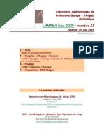 LAMPEA-Doc 2009 – numéro 21 / Vendredi 19 juin 2009