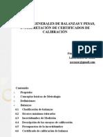 CRITERIOS GENERALES DE BALANZAS Y PESAS, INTERPRETACIÓN DE CERTIFICADOS DE CALIBRACIÓN