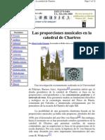 Las Proporciones Musicales en La Catedral de Chartres