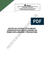 PROY-NRF-282-PEMEX-2011 Botes salvavidas totalmente cerrados para instalaciones de Pemex Exploración