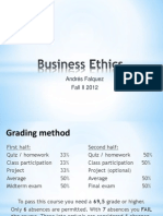 Business Ethics Class