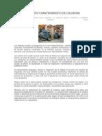 INSPECCIÓN Y MANTENIMIENTO DE CALDERAS