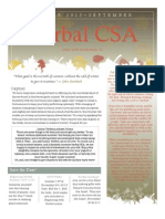 September Csa Newsletter