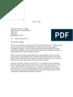 Madigan Letter 619-09