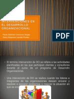 Intervenciones en El Desarrollo Organizacional