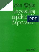 Lingvistikaj Aspektoj de Esperanto